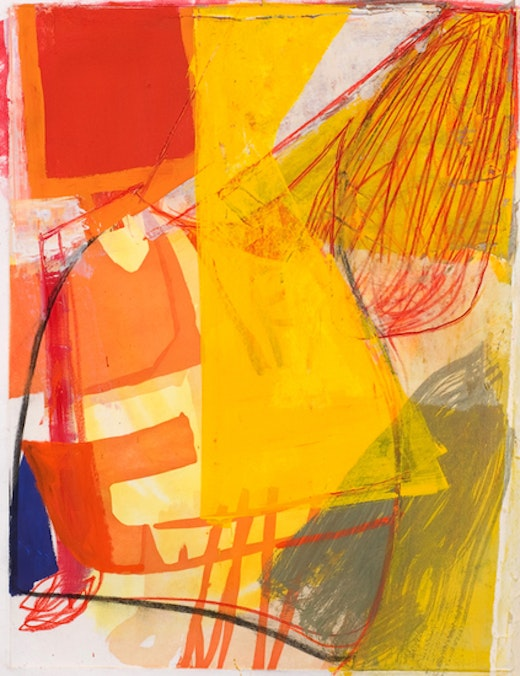 This is an artwork titled Untitled (#1) by artist Amy Sillman made in 2008