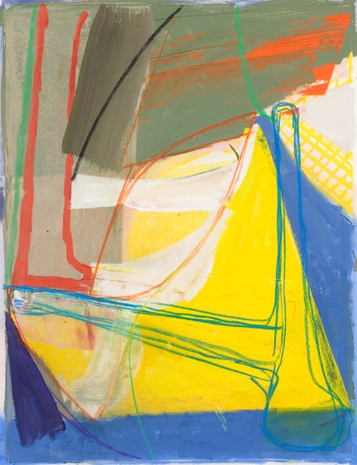This is an artwork titled Untitled (#2) by artist Amy Sillman made in 2008