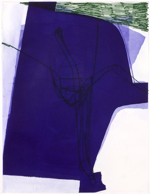 This is an artwork titled Untitled (#23) by artist Amy Sillman made in 2008
