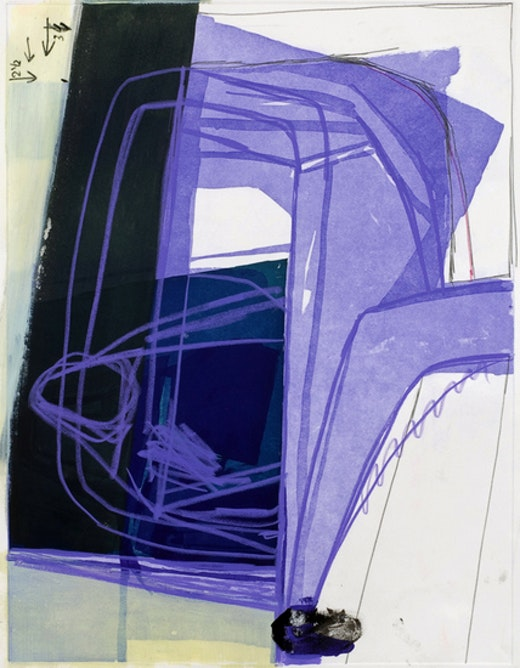 This is an artwork titled Untitled (#19) by artist Amy Sillman made in 2008