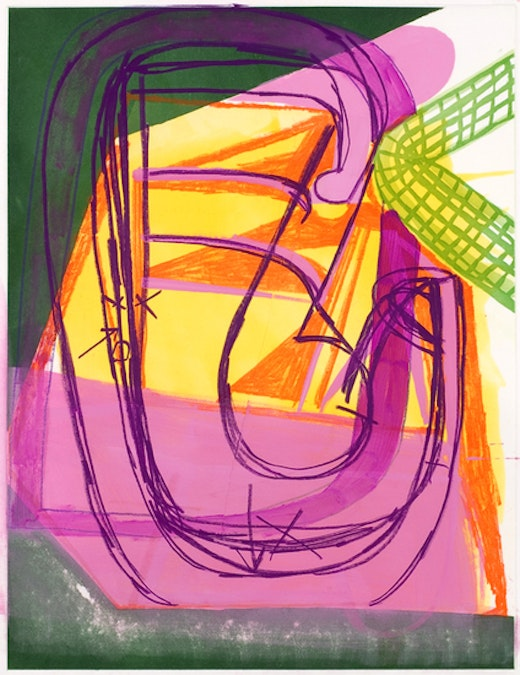 This is an artwork titled Untitled (#6) by artist Amy Sillman made in 2008