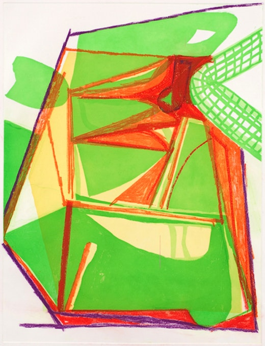 This is an artwork titled Untitled (#7) by artist Amy Sillman made in 2008