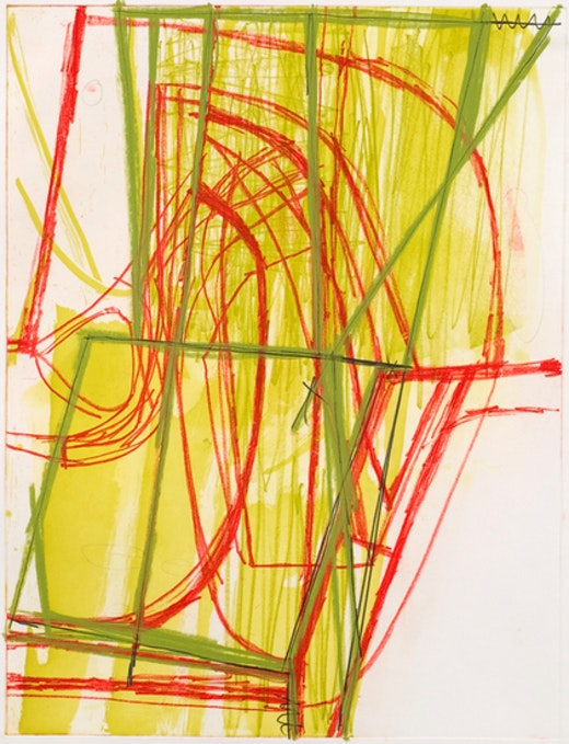 This is an artwork titled Untitled (#15) by artist Amy Sillman made in 2008