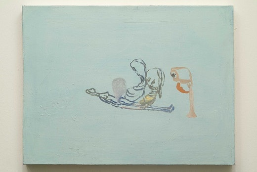This is an artwork titled Blue Painting # 1, 2, 3 by artist Amy Sillman made in 2001