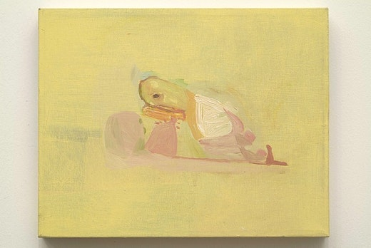 This is an artwork titled Lemon Yellow Painting by artist Amy Sillman made in 2001