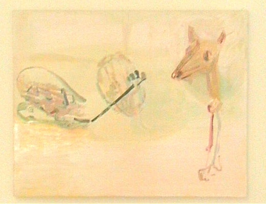 This is an artwork titled Fox by artist Amy Sillman made in 2001