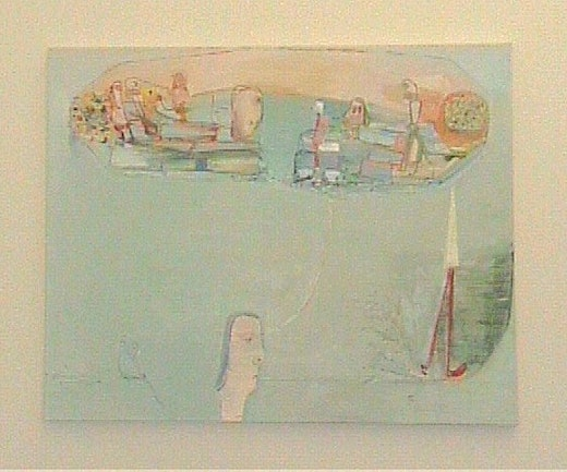 This is an artwork titled Blue Painting by artist Amy Sillman made in 2002