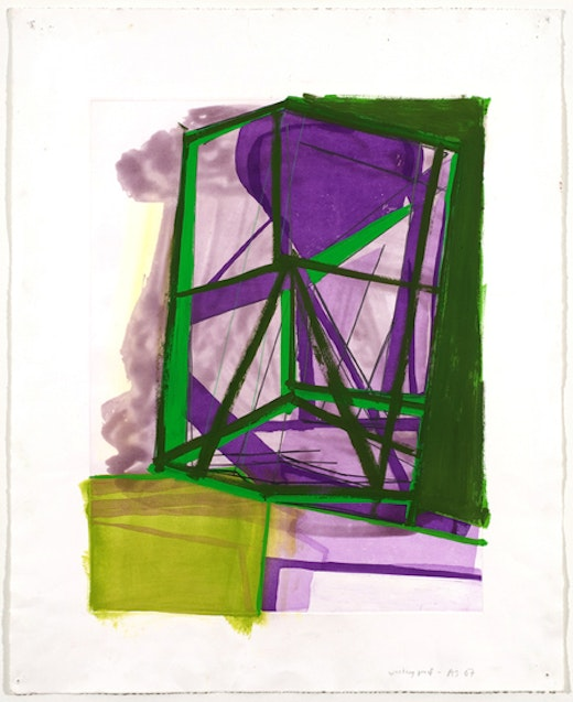 This is an artwork titled Untitled (#13) by artist Amy Sillman made in 2007
