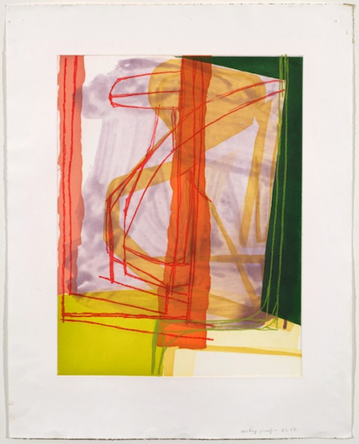 This is an artwork titled Untitled (#11) by artist Amy Sillman made in 2007