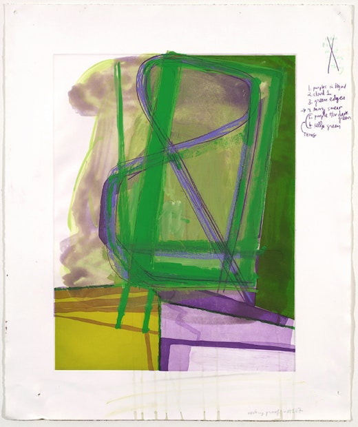This is an artwork titled Untitled (#10) by artist Amy Sillman made in 2007