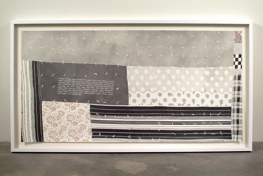 This is an artwork titled Some Materials Used in the Quilt by artist Andrea Bowers made in 2007