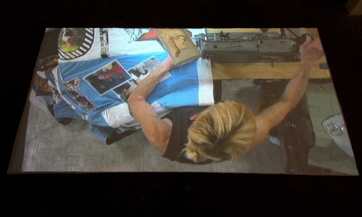 This is an artwork titled Continual Maintenance and Mending by artist Andrea Bowers made in 2007