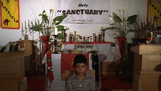 This is an artwork titled Sanctuary by artist Andrea Bowers made in 2007