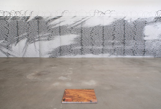 This is an artwork titled No Olvidado (Not Forgotten) by artist Andrea Bowers made in 2010