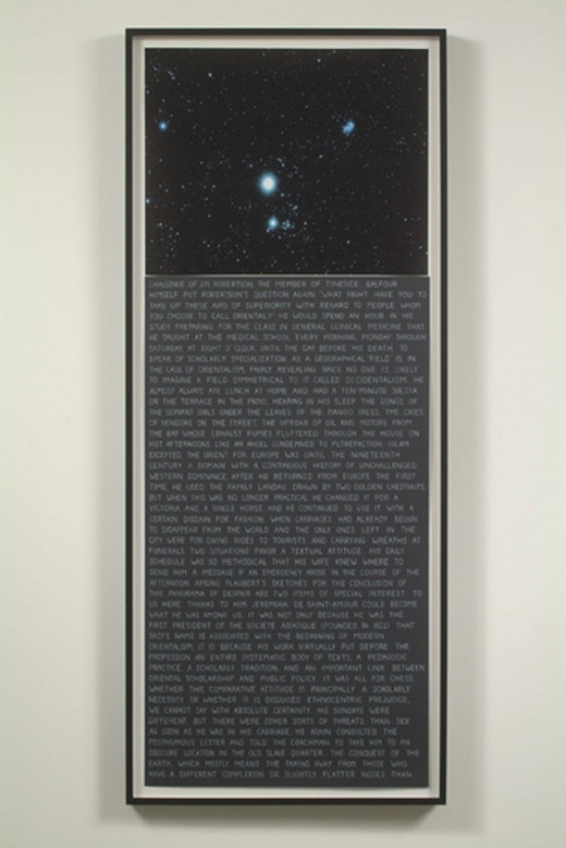 This is an artwork titled Randomized Text #3 by artist Charles Gaines made in 2006