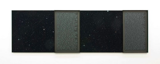 This is an artwork titled History of Stars 4 by artist Charles Gaines made in 2007