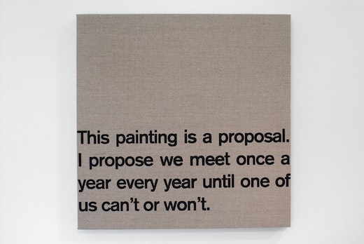 This is an artwork titled Proposal by artist Dave McKenzie made in 2007