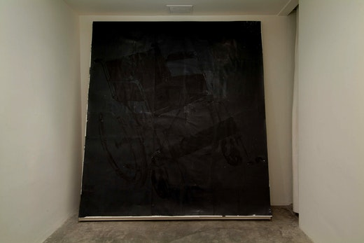 This is an artwork titled Burned up and crippled by artist Edgar Arceneaux made in 2006