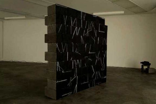 This is an artwork titled Broken Sol by artist Edgar Arceneaux made in 2004