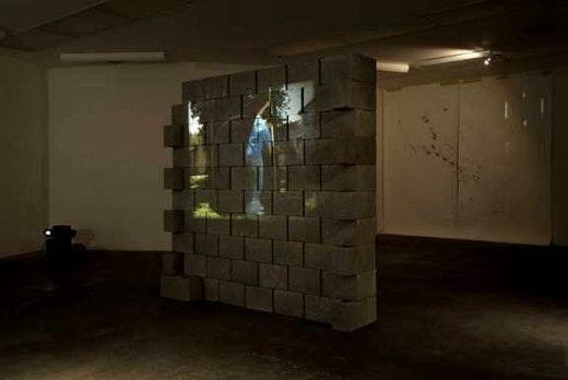 This is an artwork titled Permutation Without Permission by artist Edgar Arceneaux made in 2004