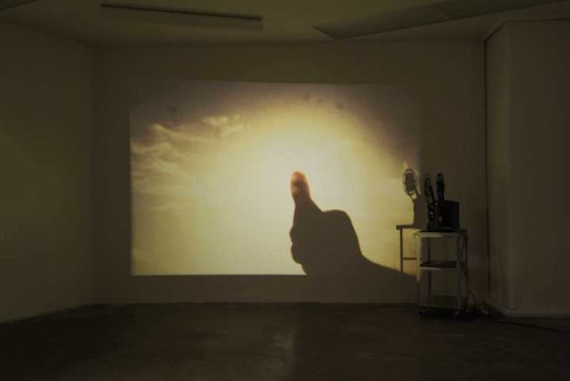 This is an artwork titled Blocking Out the Sun by artist Edgar Arceneaux made in 2004