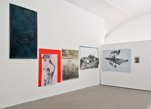 Edgar Arceneaux: Disfigurement in the Face of Illusion: The Detroit Riots, Michael Heizer and Drexciya Installation view
