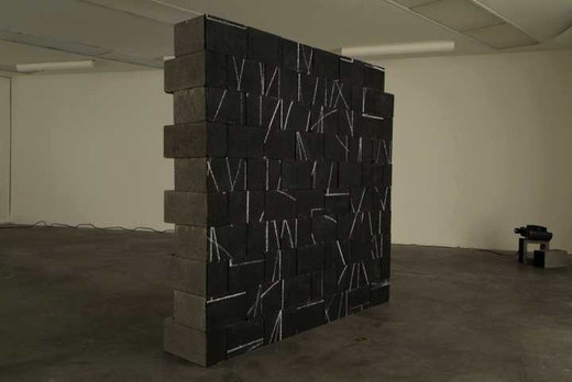 This is an artwork titled Broken Sol by artist Edgar Arceneaux made in 2004
