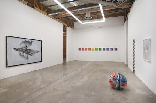 Jedediah Caesar, Andrea Bowers, Edgar Arceneaux, Patrick Wilson Installation view