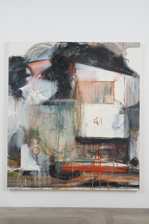 This is an artwork titled French-Canadian by artist Elizabeth Neel made in 2010