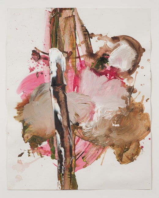 This is an artwork titled Stick Season by artist Elizabeth Neel made in 2010