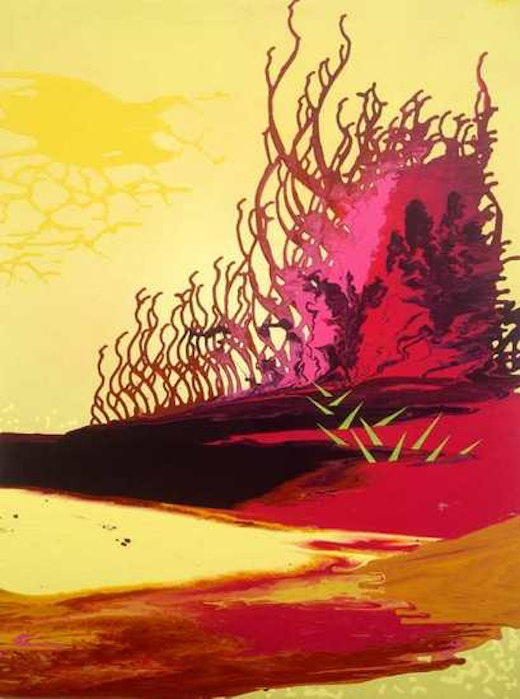 This is an artwork titled Wasabi Sunset by artist Jane Callister made in 2006