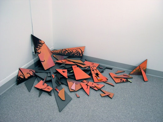 This is an artwork titled re-entry by artist Jane Callister made in 2010