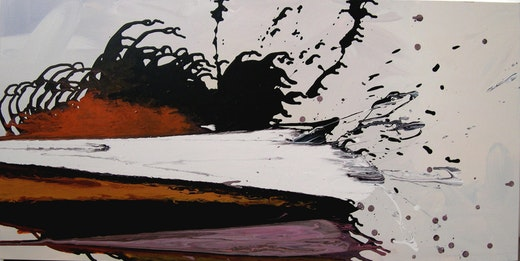 This is an artwork titled grey edge by artist Jane Callister made in 2008