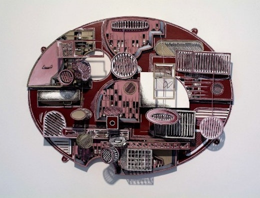 This is an artwork titled Untitled (elipse) by artist Jane South made in 2005