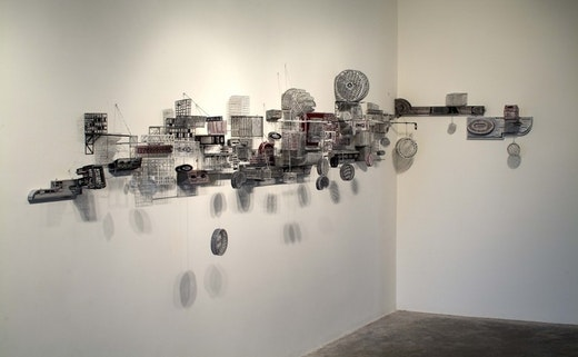 This is an artwork titled Untitled (Linear Construction) by artist Jane South made in 2005