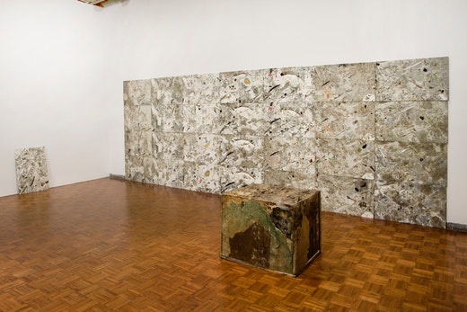 This is an artwork titled Whitney Biennial 2008 Installation View by artist Jedediah Caesar made in 2008