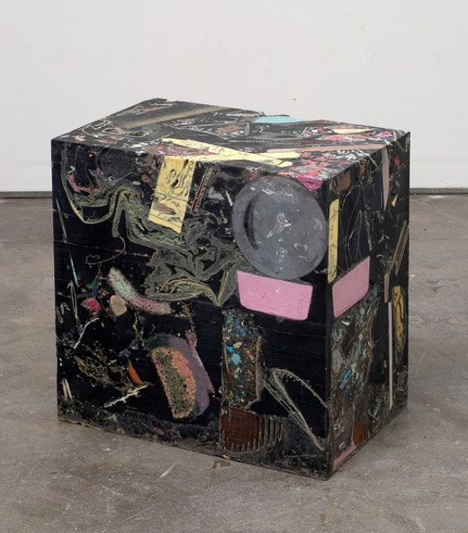 This is an artwork titled Untitled (Glyphcube) by artist Jedediah Caesar made in 2008