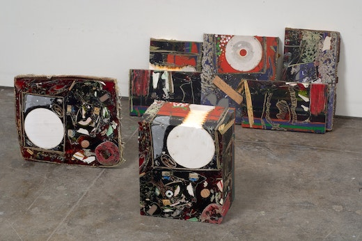 This is an artwork titled Untitled (Speakerbox) by artist Jedediah Caesar made in 2007
