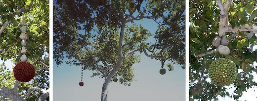 This is an artwork titled The Tree Adorned With Earrings by artist Joel Tauber made in 2006