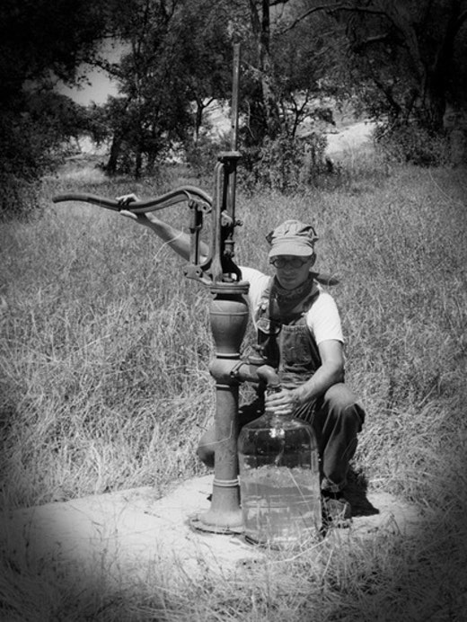 This is an artwork titled Pumping Water by artist Joel Tauber made in 2010