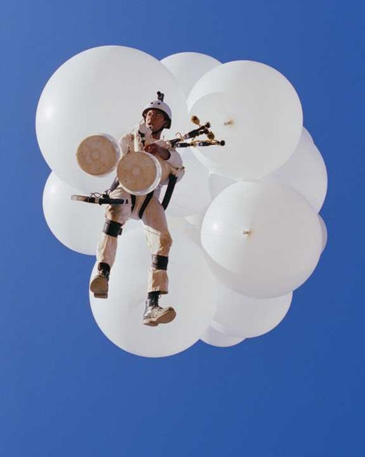 This is an artwork titled Untitled (Flying Project I) by artist Joel Tauber made in 2003