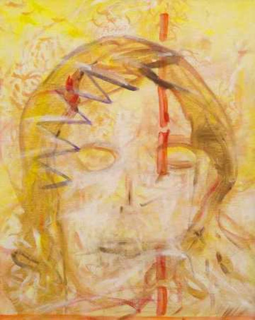 This is an artwork titled Kai by artist Jutta Koether made in 2002