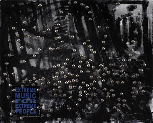 This is an artwork titled Extreme Music: Black Metal by artist Jutta Koether made in 2009