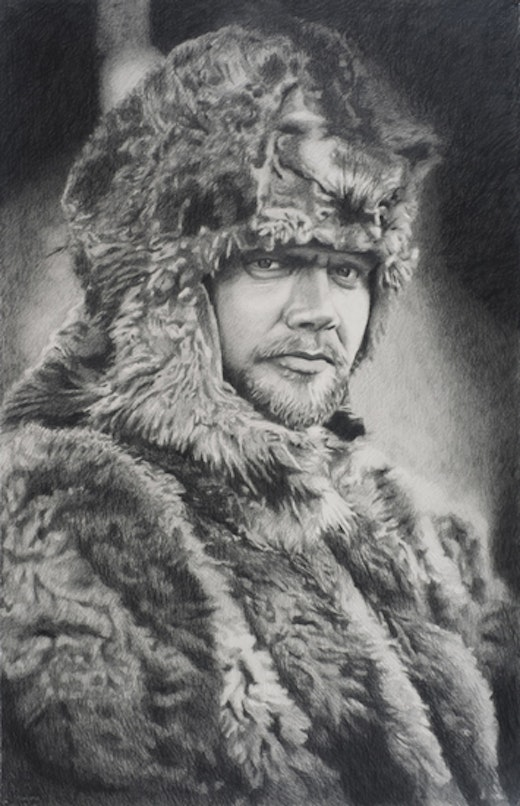 This is an artwork titled Shackleton #18 by artist Karl Haendel made in 2009