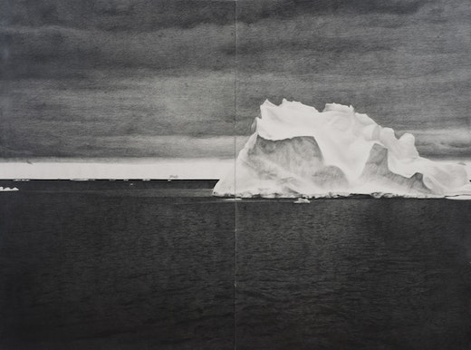 This is an artwork titled Shackleton #24 by artist Karl Haendel made in 2009