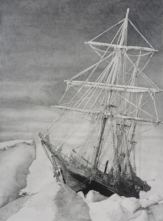 This is an artwork titled Shackleton #29 by artist Karl Haendel made in 2010