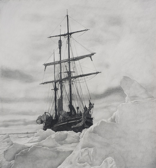 This is an artwork titled Shackleton #28 by artist Karl Haendel made in 2010
