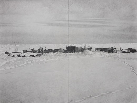 This is an artwork titled Shackleton #25 by artist Karl Haendel made in 2009