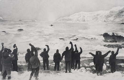 This is an artwork titled Shackleton #7 by artist Karl Haendel made in 2008