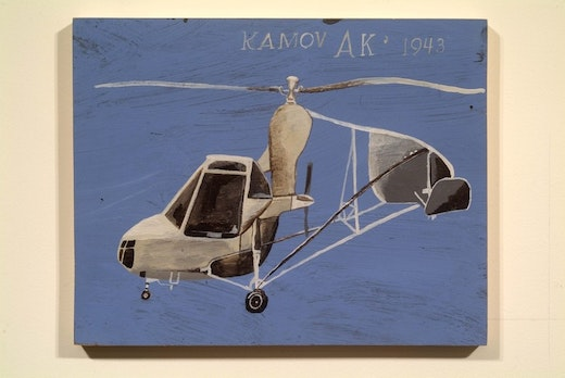 This is an artwork titled KAMOV AK 1943 by artist Martin McMurray made in 2002